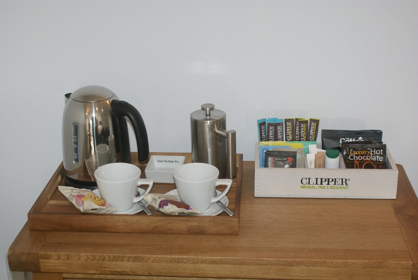 Dartmoor tea and coffee in the room